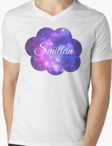 Smillan (White Font) Mens V-Neck T-Shirt