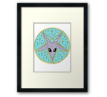 sparkly Baphomet Framed Print