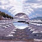 Lake Superior Island Waves by Phil Perkins