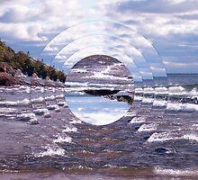 Lake Superior Island Waves by perkinsdesigns