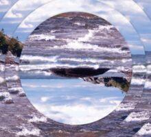 Lake Superior Island Waves Sticker