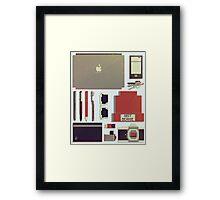 8Bit Handbag Framed Print