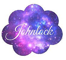 Johnlock (White Font) Photographic Print