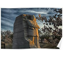 MLK Memorial Cherry Blossoms Poster