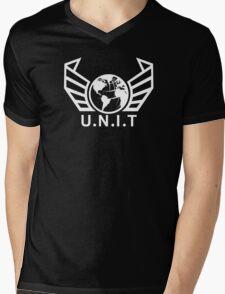 New U.N.I.T (White) Mens V-Neck T-Shirt