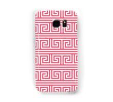 Greek Key Pattern in Pink and White Samsung Galaxy Case/Skin