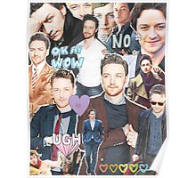 james mcavoy collage Poster