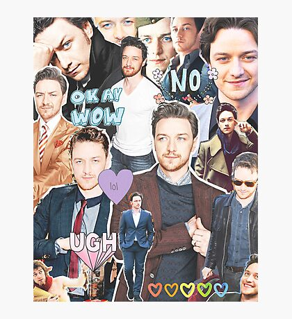 james mcavoy collage Photographic Print