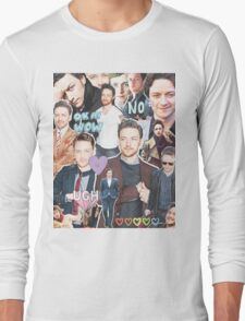 james mcavoy collage Long Sleeve T-Shirt