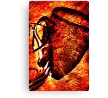 Red-hot mug Canvas Print