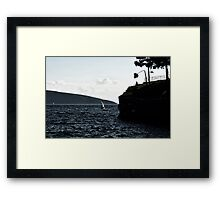 windy day in bodrum Framed Print