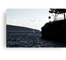 windy day in bodrum Canvas Print