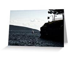 windy day in bodrum Greeting Card