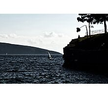 windy day in bodrum Photographic Print