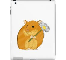 Hamster holding a flower iPad Case/Skin