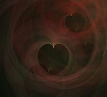 Abstract Art Hearts by Vac1