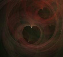 Abstract Art Hearts by Vac1