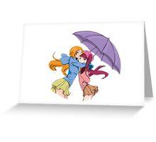 Orihime and Riruka's Rainy Day Greeting Card