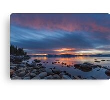 Sliver of Red - Lake Tahoe Canvas Print