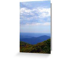 Blue Ridge  Greeting Card