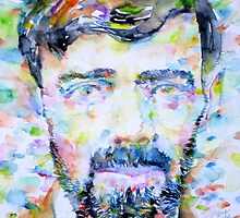D. H. LAWRENCE - watercolor portrait by lautir