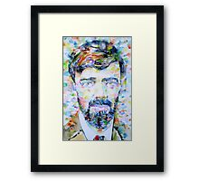 D. H. LAWRENCE - watercolor portrait Framed Print