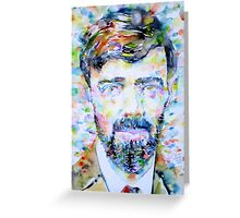 D. H. LAWRENCE - watercolor portrait Greeting Card