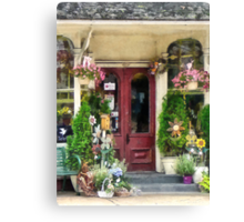 Flower Shop With Birdhouse Strasburg PA Canvas Print