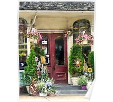 Flower Shop With Birdhouse Strasburg PA Poster