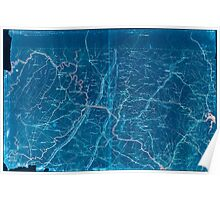 Civil War Maps 1252 Part of map of portions of the milit'y dep'ts of Washington Pennsylvania Annapolis and north eastern Virginia Inverted Poster