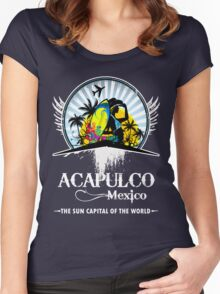 Acapulco Beach Mexico Women's Fitted Scoop T-Shirt