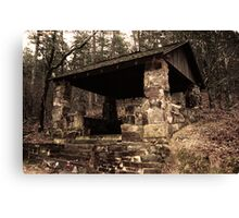Mountain Shelter in Hot Springs Arkansas Canvas Print