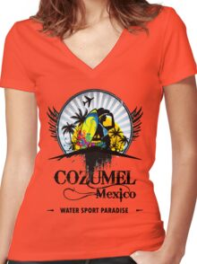 Cozumel Mexico Summer Place Women's Fitted V-Neck T-Shirt