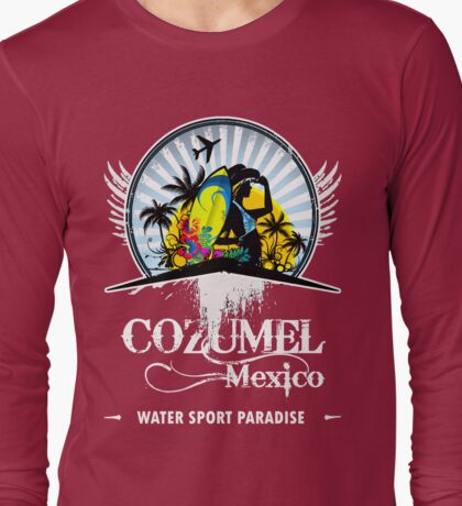Fine Beach Of Cozumel Long Sleeve T-Shirt