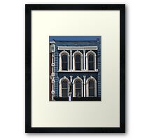 Blue and White Building Port Huron Michigan Framed Print