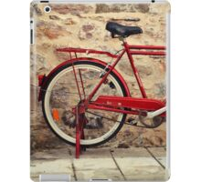 red bicycle iPad Case/Skin