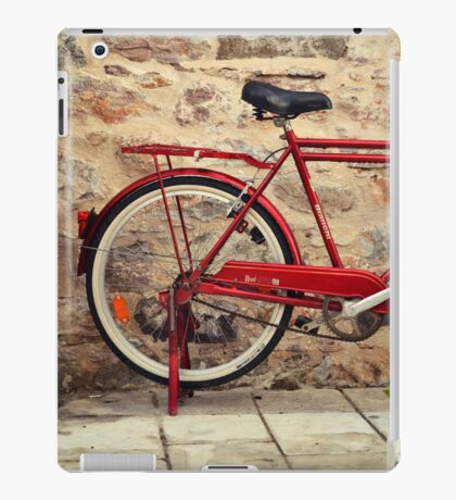 red bicycle iPad Case/Skin