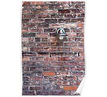 Brick Wall and Metal Lamp Poster