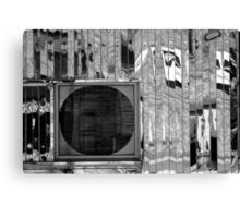 Diner Window 8 Black and White Canvas Print
