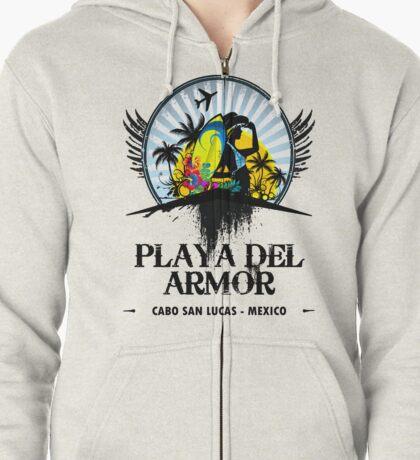 Playa Del Armor Mexico Zipped Hoodie