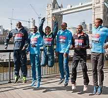 london Marathon  Elite Men by Keith Larby