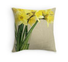 Narcissuses Throw Pillow