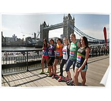 london Marathon   Celebrities Poster