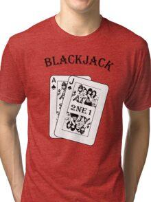 2NE1 - Blackjack t-shirt Tri-blend T-Shirt