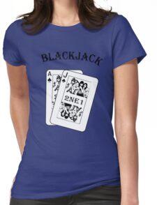 2NE1 - Blackjack t-shirt Womens Fitted T-Shirt