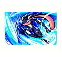 Greninja | Water Shuriken Art Print