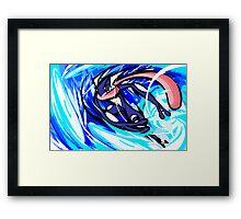 Greninja | Water Shuriken Framed Print