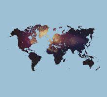 Galaxy World Map Kids Clothes