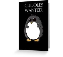 penguin poster  Greeting Card