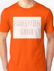 Pokemon Slut With Floral Letters T-Shirt